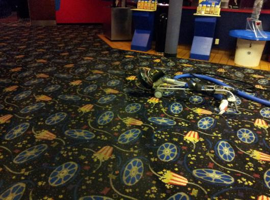 carpet cleaning at Cedar Rapids' Collins Road Theater